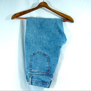 """High waisted mom jeans waist 25"""" light wash"""